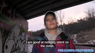 PublicAgent Yana the street dancer fucks to be on talent TV Show