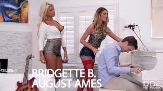 LA Rockstar sluts August Ames and Bridgette B in Hot Threesome