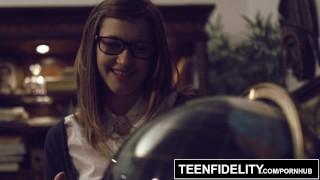 TEENFIDELITY – Schoolgirl Cutie Alaina Dawson Creampied On The Desk