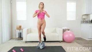 FIT18 – Emma – 47kg – Casting Skinny Canadian Blonde – 60FPS