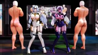 MMD Ghost Dance x Kimagure Mercy sex dance KOS-MOS and T-elos