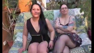 Two beautiful BBW fucking beurettes