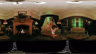 VR 360 Colombian Maid dildo playing