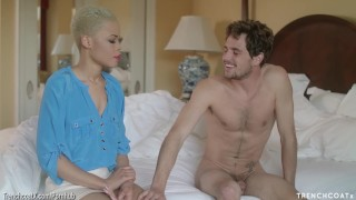 TRENCHCOATx – Arie Faye fucks a guy when his wife goes away mad