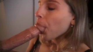 Heather deepthroats and has anal sex