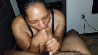 BBW throat job with the double twist