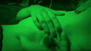 Colby finger fucks Roxie on night vision