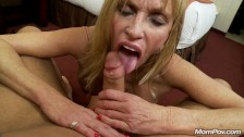 Hot Grandma gets anal sex and messy cum